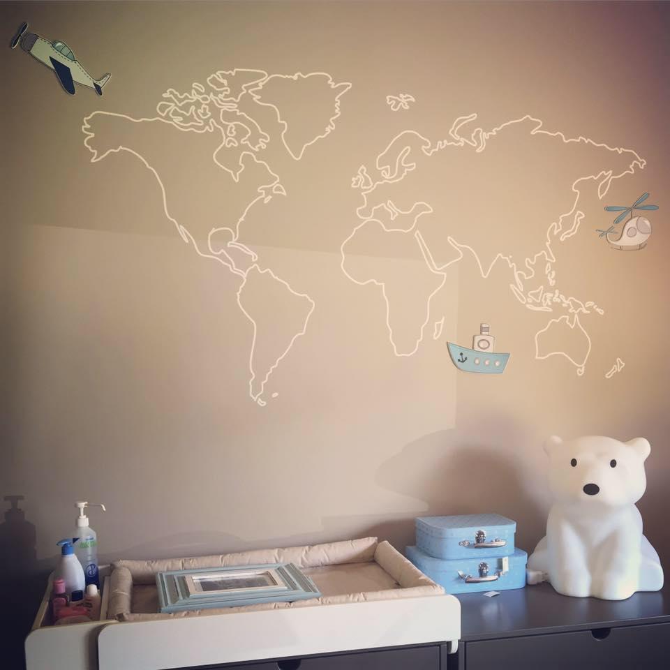 Boy Map Decals