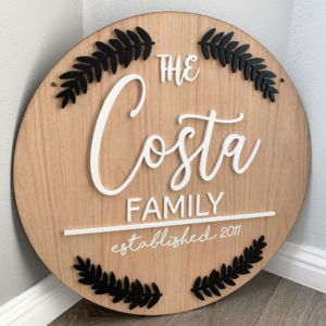 Wooden Family Plaque