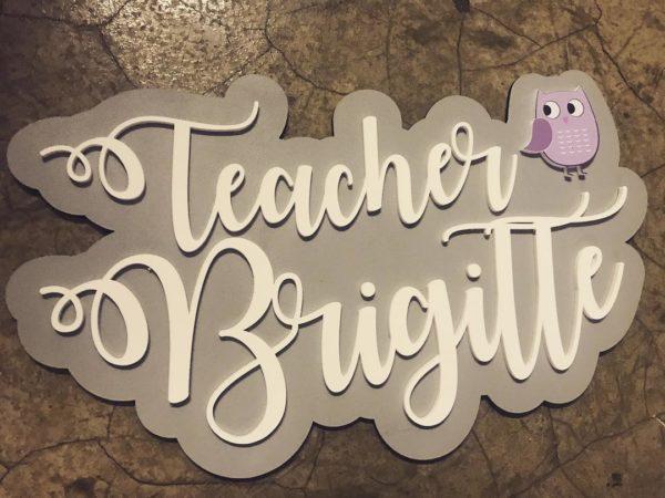 Teacher Owl Door Name