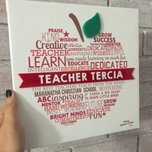 Teacher Apple Canvas