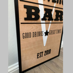 Sports Bar Plaque