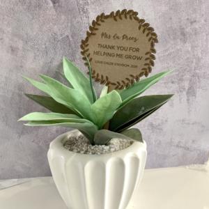 Teacher Plant Plaque