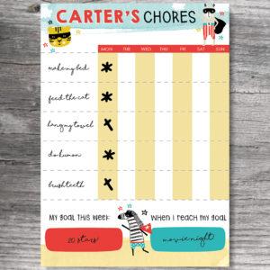 Acrylic Chore Chart