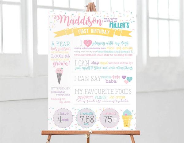 Kids Party Decorations - Milestone Board