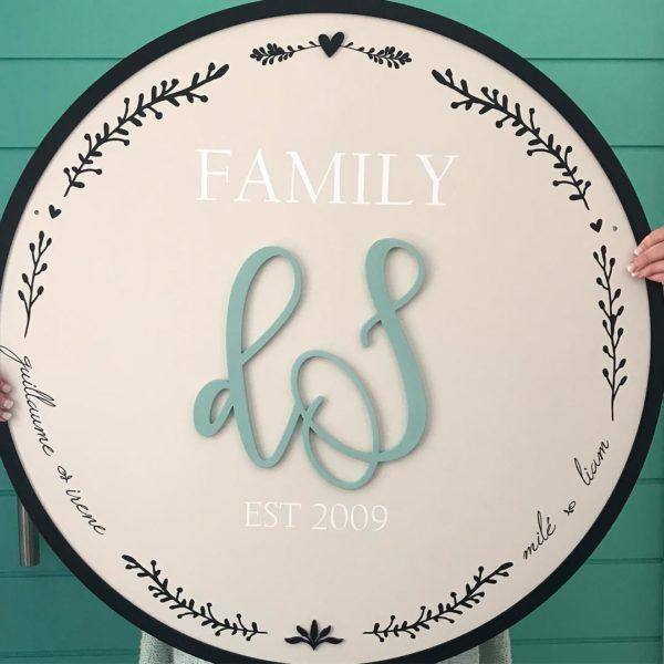 Border Family Plaque
