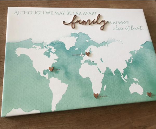 Family World Map Canvas