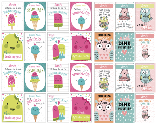 Lunchbox Stickers Afrikaans