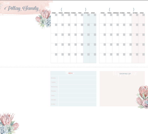 Two Month planner