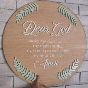 Wooden Prayer Plaque