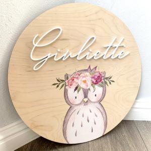 Owl Birch Plaque