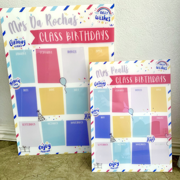 Dry-erase Birthday Board