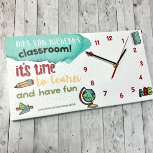 Teacher Canvas Clock