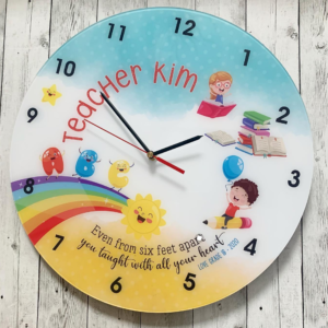 Round Teacher Clock