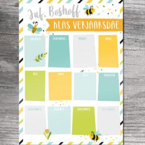Teacher Birthday Board Afrikaans
