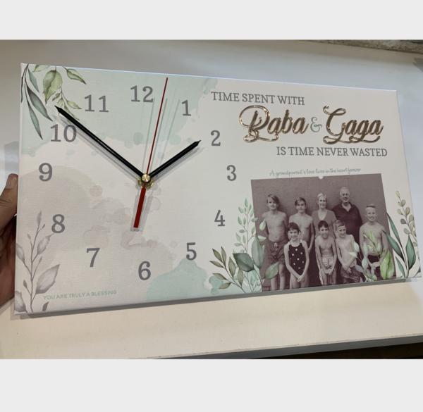 Family Canvas Clock