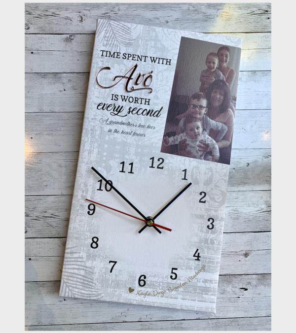 Personalised Family Clock