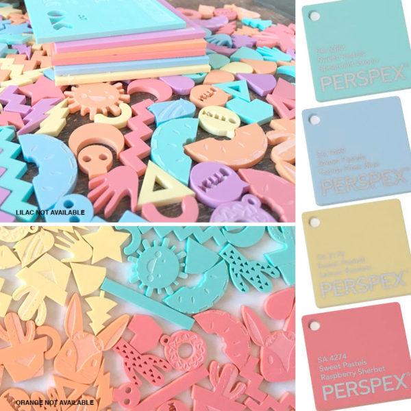 Perspex Pastels