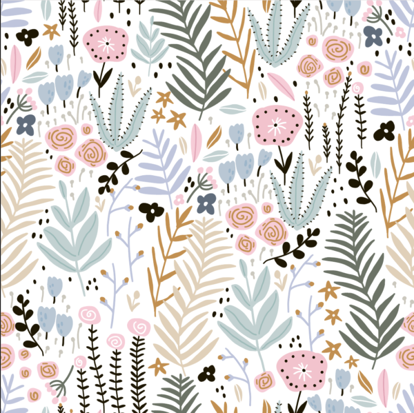 Floral Whimsy Wallpaper