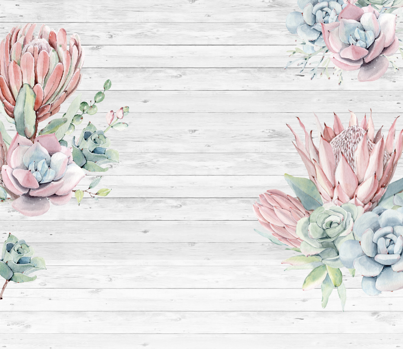 Wallpaper Succulents Lovecoco