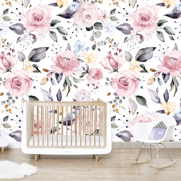 Lilac Roses Wallpaper