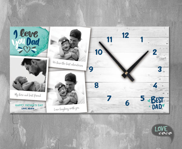 Father's Day Clock