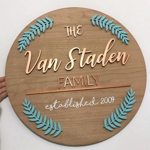 Metallic Family Plaque