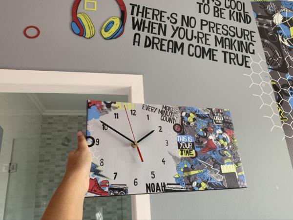 Boy Canvas Clock