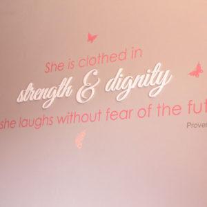 Strength & Dignity Wall Art
