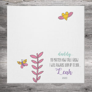 Flower Handprint Cavas
