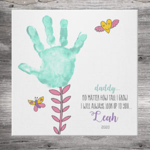 Flower Handprint Canvas