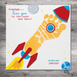 Footprint rocket canvas