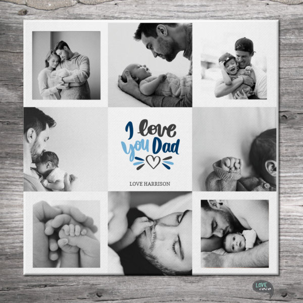 Love Dad Canvas Gift