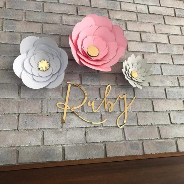 Paper Flower Nursery Decor