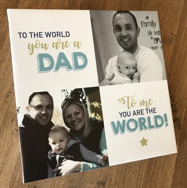 Fathers Photo Canvas