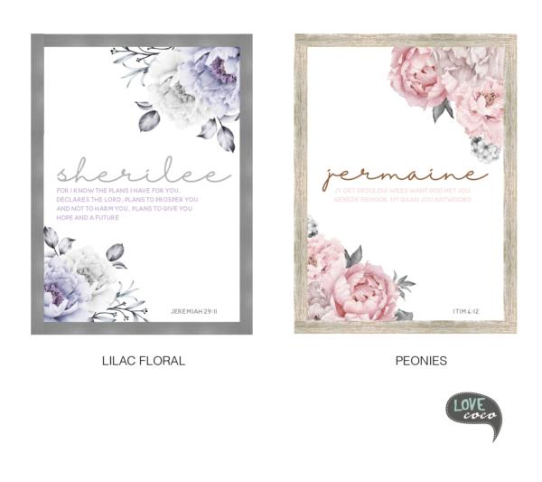 Floral Open Frame