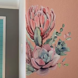Succulent Protea Decal