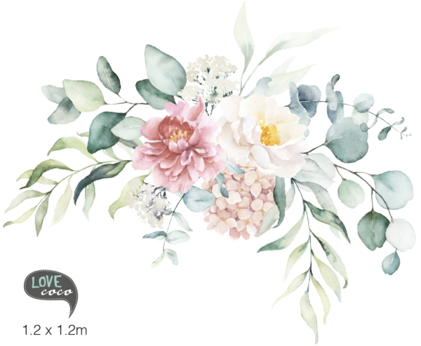 Floral Bouquet Sticker Decal