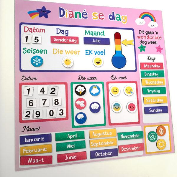 Afrikaans Personalised Daily Calendar