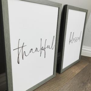 Grateful Thankful Frame set