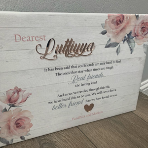 Floral Message Canvas