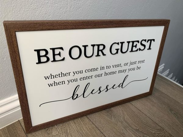 Be Our Guest Frame