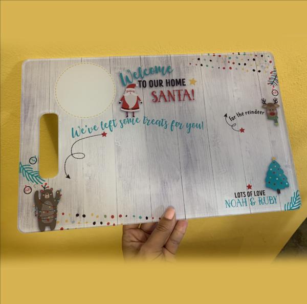 Acrylic Santa Snack Board