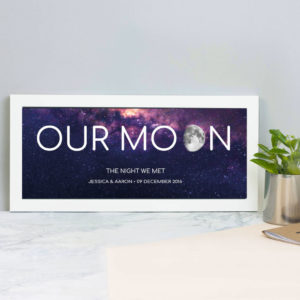Our Moon Personalised print