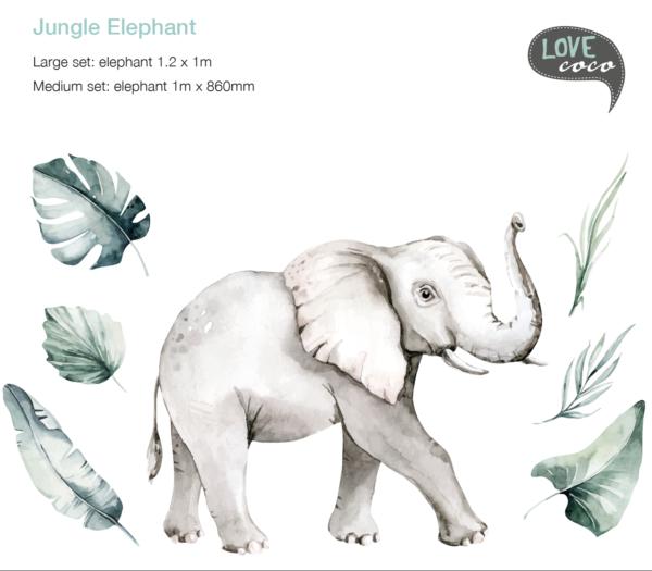Jungle Elephant Decal