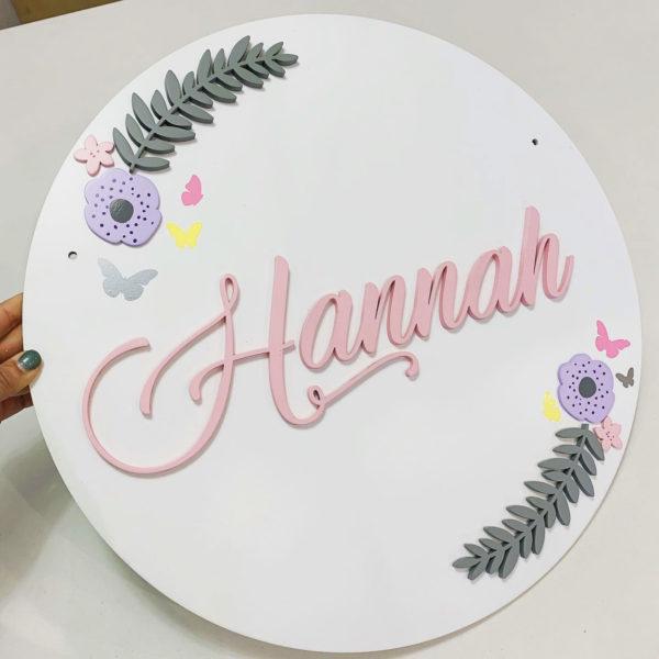 Blossom Name Plaque