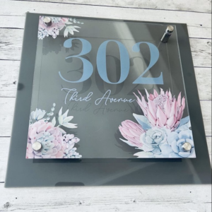 Protea Acrylic House Number