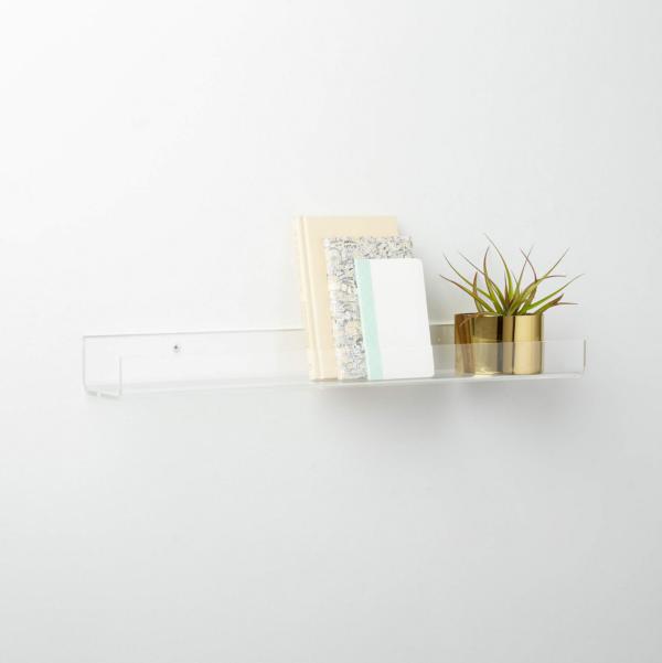 Clear Acrylic Ledge Shelf