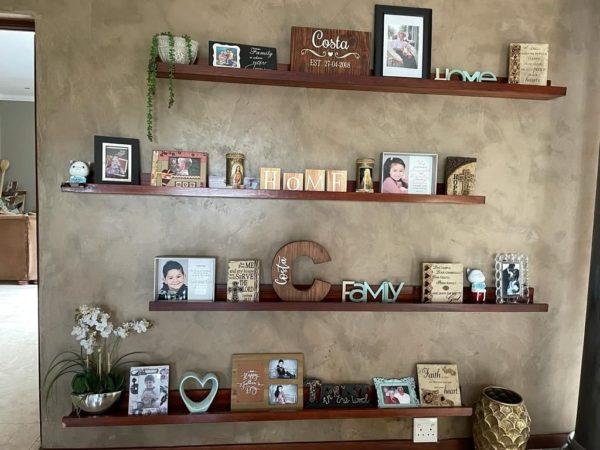 Wooden Ledge Shelf