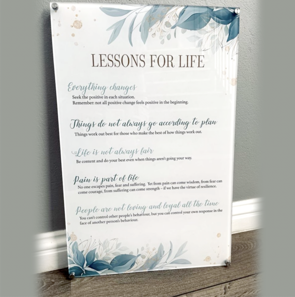 Lessons For Life Acrylic Print