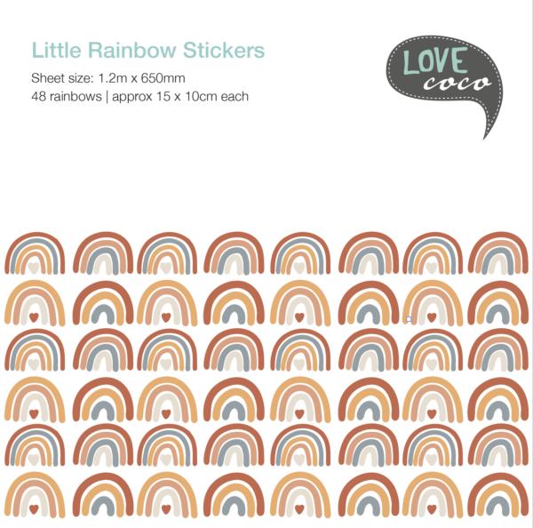 Little Rainbow Vinyl Stickers